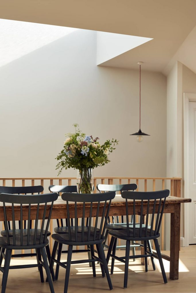 dining table 683x1024 Loft Conversion and Roof Extension by Mitchell + Corti Architects