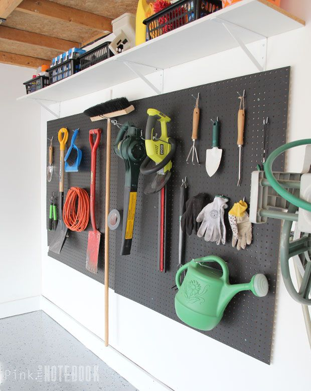 garden shed pegboard Shed Storage Ideas: 7 Tips on How to Get the Most Out of Your Shed