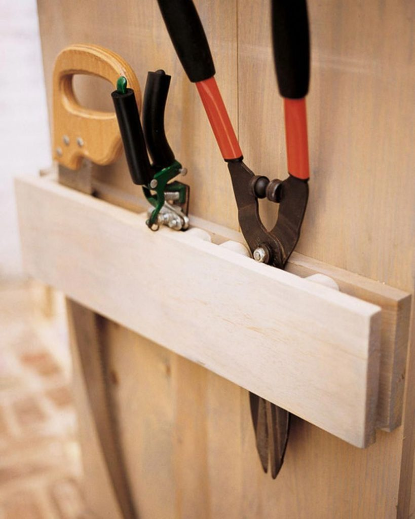 garden tool organizer diy 819x1024 Shed Storage Ideas: 7 Tips on How to Get the Most Out of Your Shed