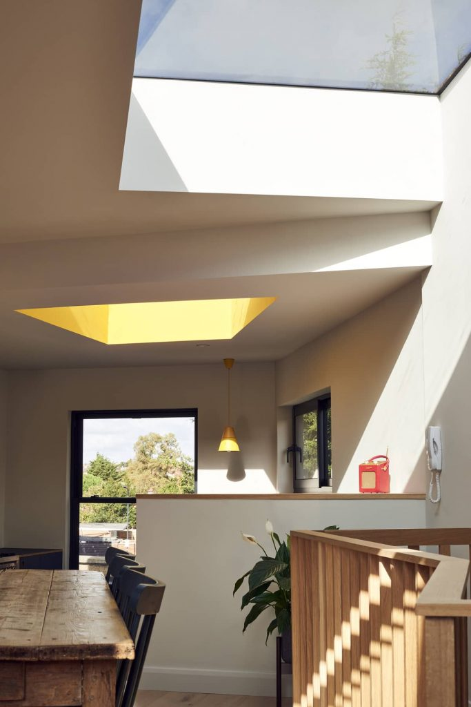 irregular shaped skylights 683x1024 Loft Conversion and Roof Extension by Mitchell + Corti Architects