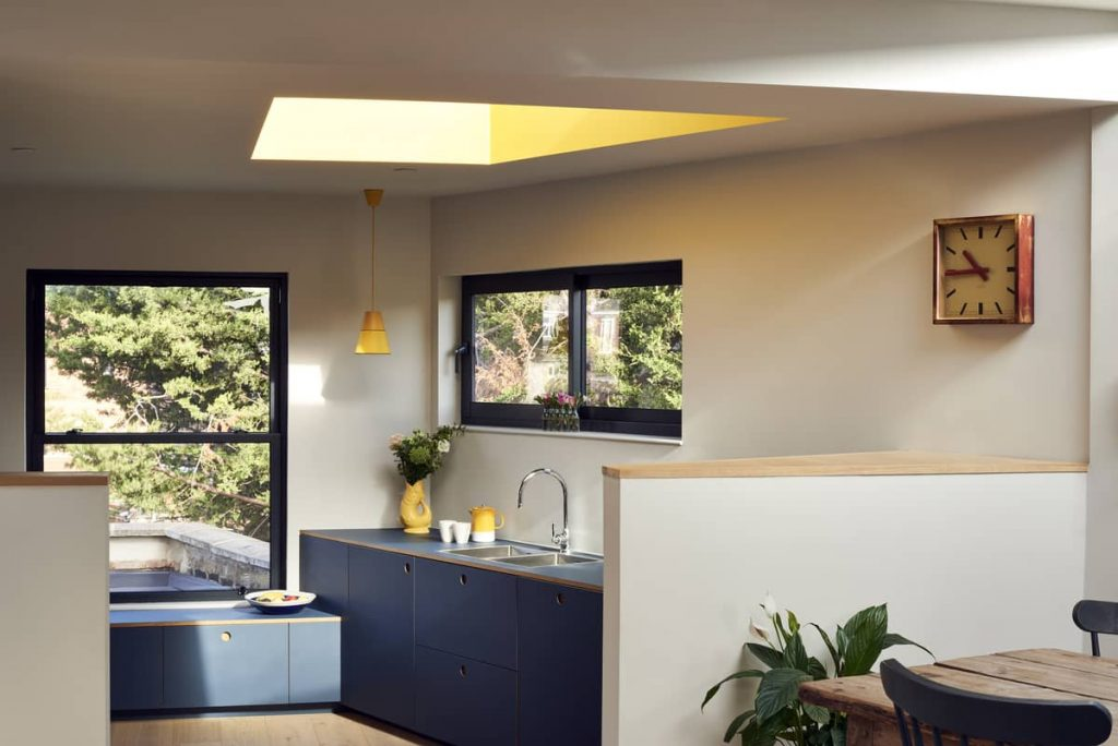 kitchen and dining areas 1024x684 Loft Conversion and Roof Extension by Mitchell + Corti Architects