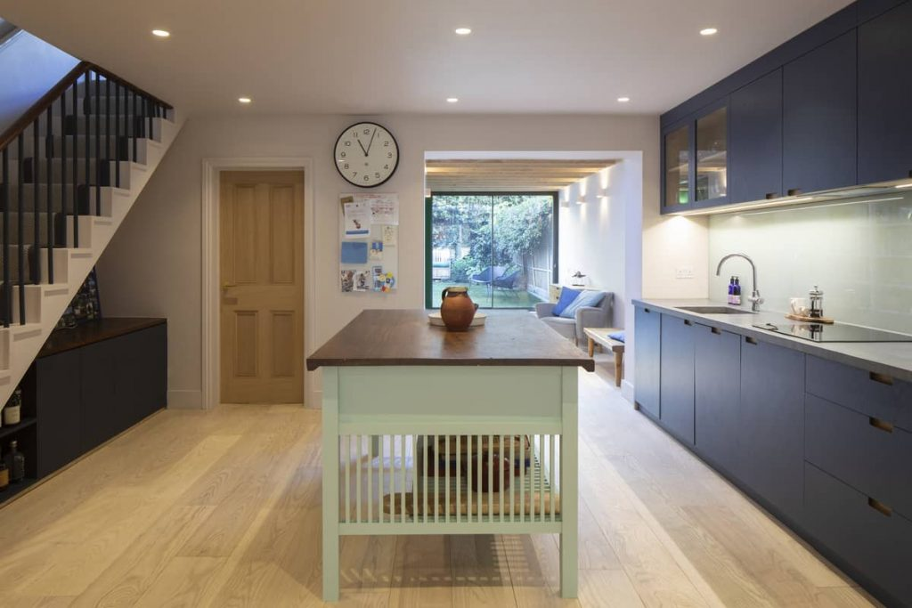 kitchen island 1024x683 Extension of a Victorian House in London by Sam Tisdall Architects