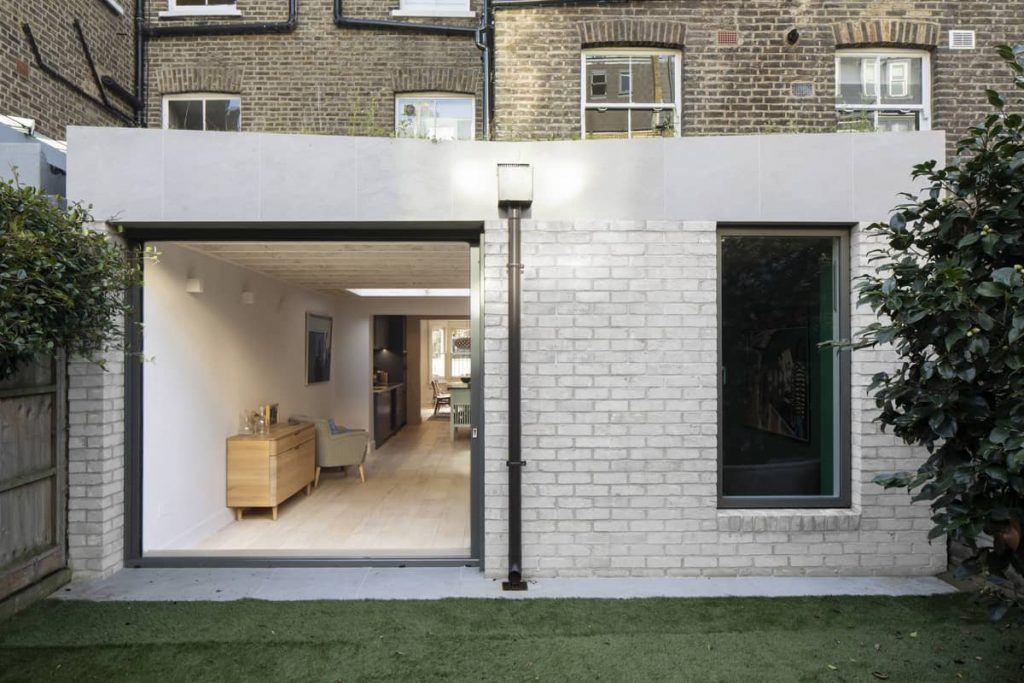 rear elevation 1024x683 Extension of a Victorian House in London by Sam Tisdall Architects