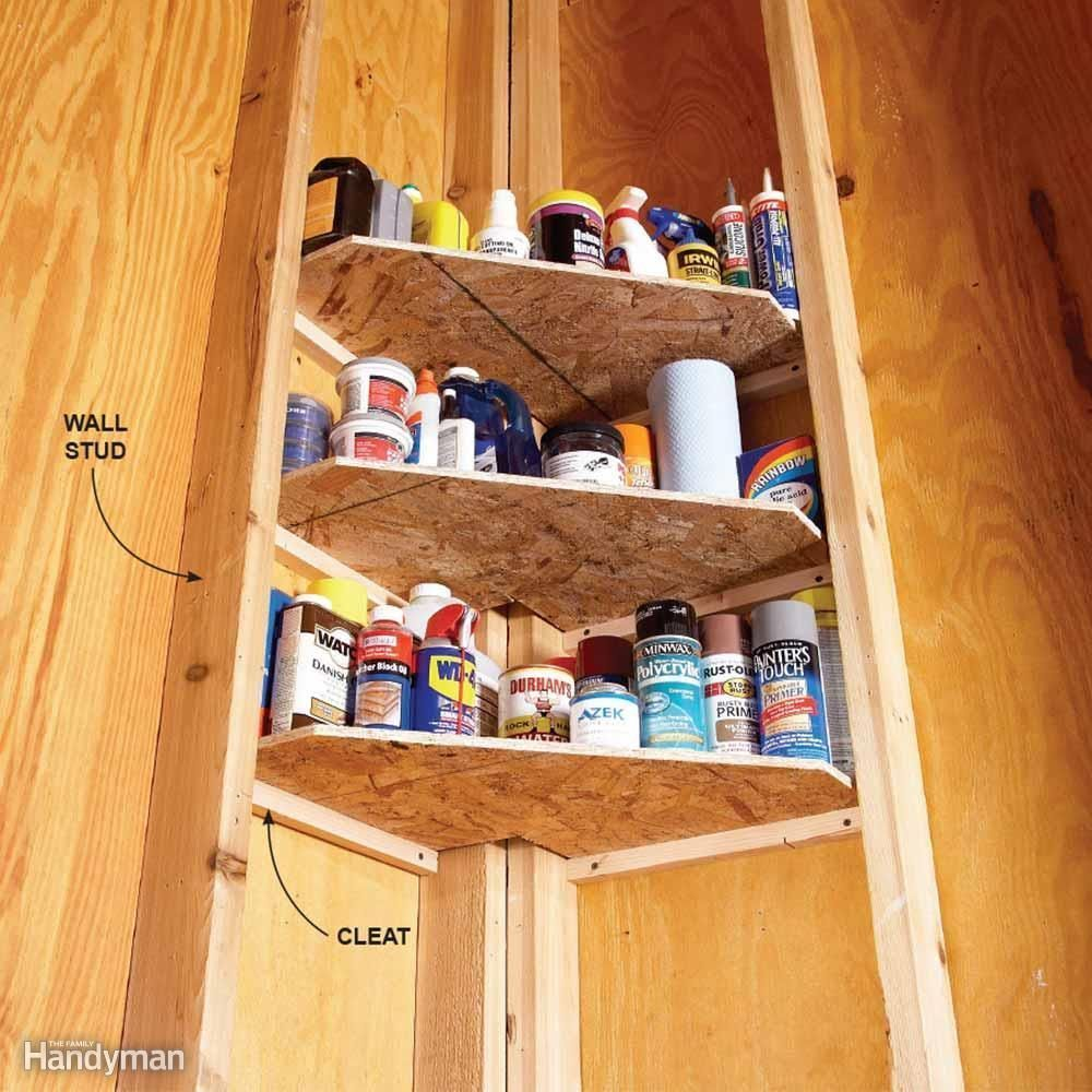shed storage ideas corner shelves Shed Storage Ideas: 7 Tips on How to Get the Most Out of Your Shed