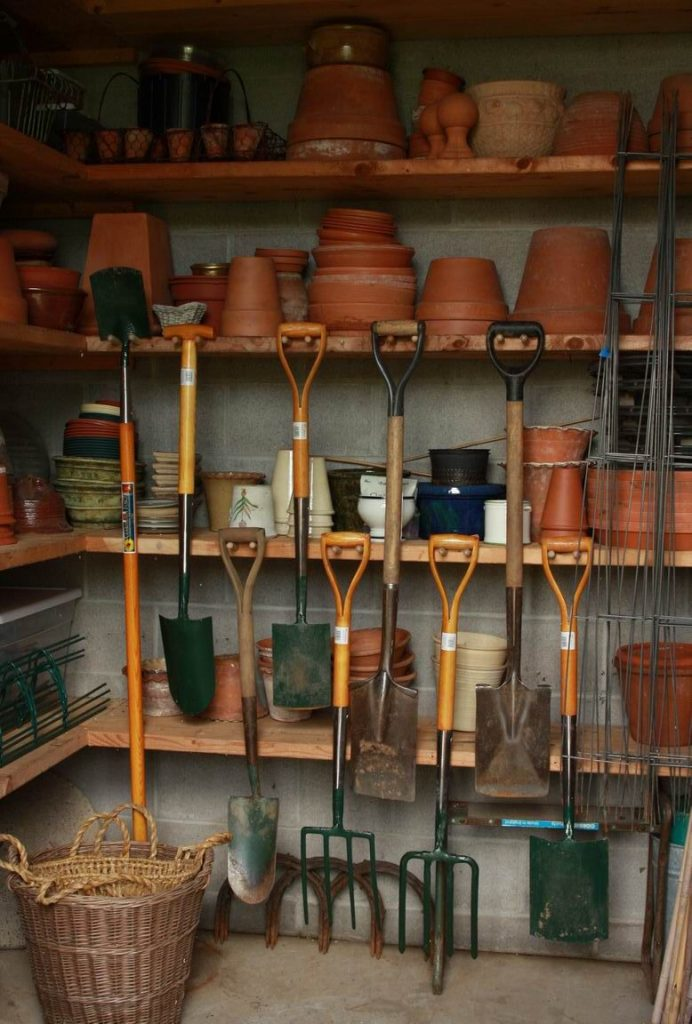 shed storage ideas shelves for pots 692x1024 Shed Storage Ideas: 7 Tips on How to Get the Most Out of Your Shed