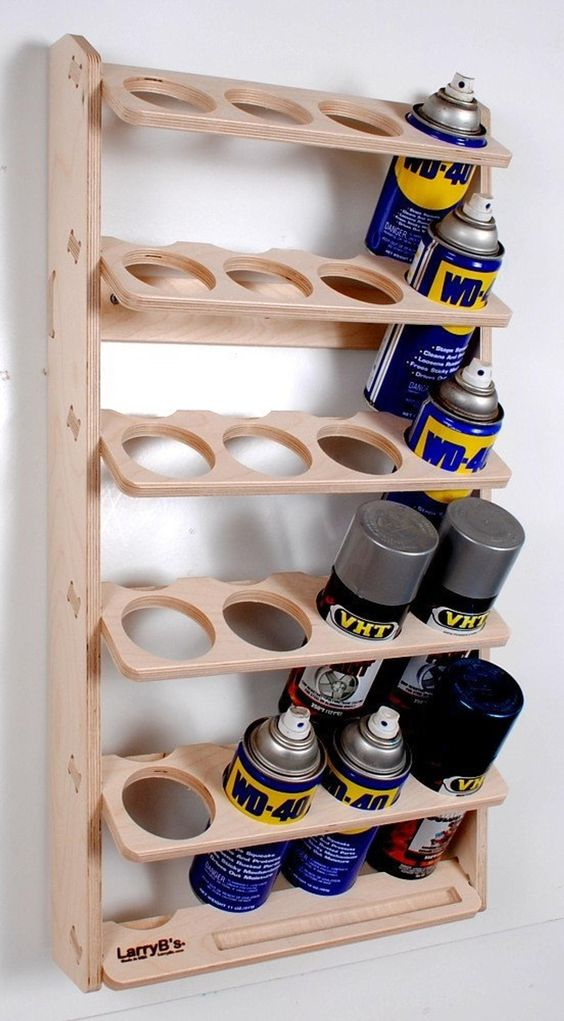 spray can organizer Shed Storage Ideas: 7 Tips on How to Get the Most Out of Your Shed