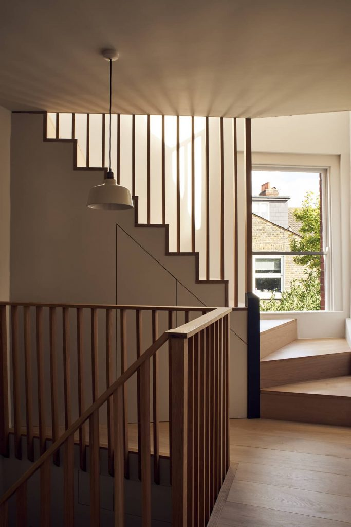 unusual staircase plan 683x1024 Loft Conversion and Roof Extension by Mitchell + Corti Architects