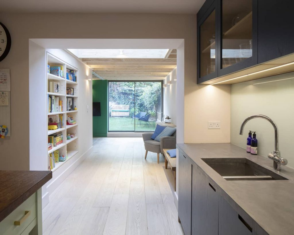 view from kitchen 1024x819 Extension of a Victorian House in London by Sam Tisdall Architects