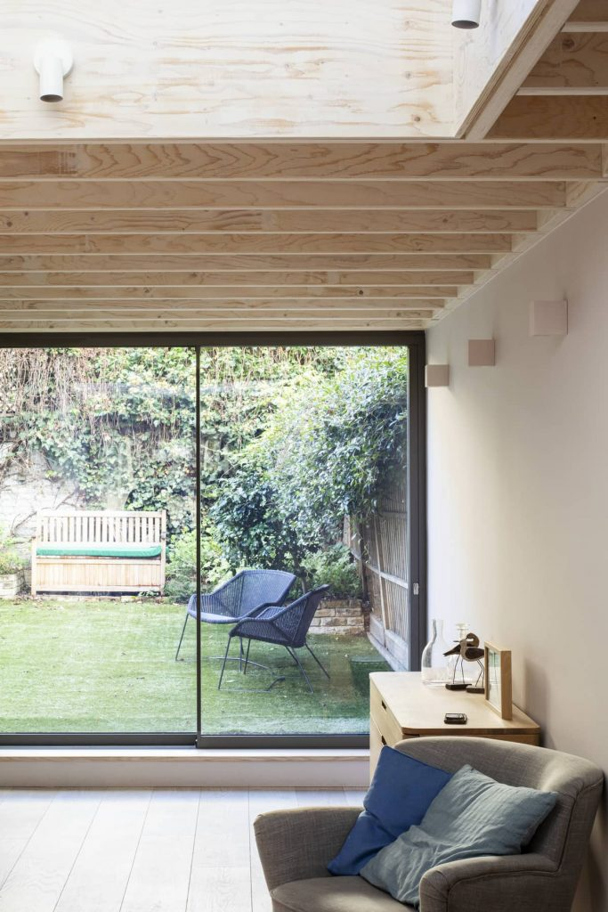 view towards garden 683x1024 Extension of a Victorian House in London by Sam Tisdall Architects