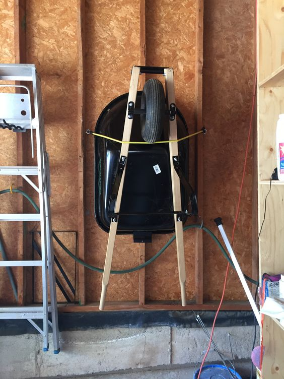 wheelbarrow storage idea Shed Storage Ideas: 7 Tips on How to Get the Most Out of Your Shed