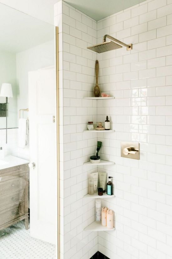 small bathroom remodel ideas corner shelves 8 Small Home Design Ideas That Will Make Your Space Look Bigger