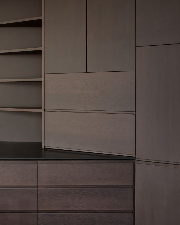 detail of the bespoke joinery Unagru Architects Transformed a Traditional Terrace Into a Bright Home