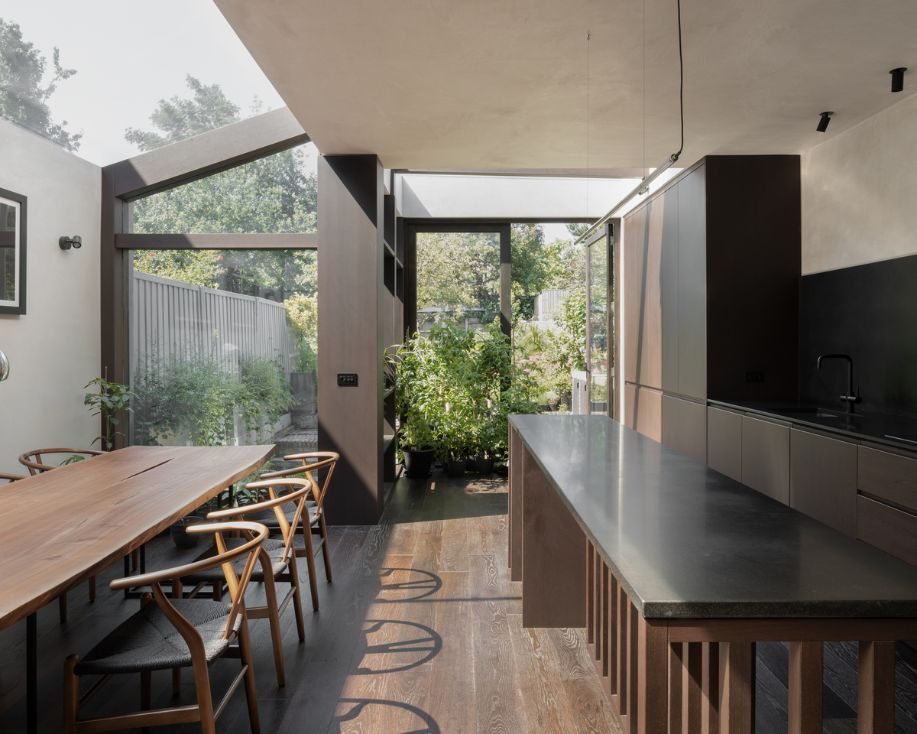 inside out garden Unagru Architects Transformed a Traditional Terrace Into a Bright Home