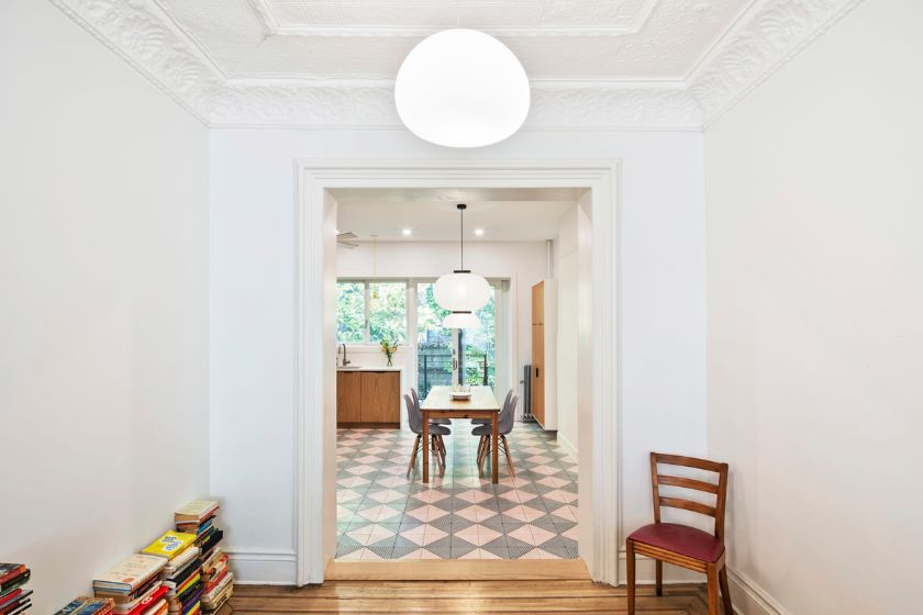 looking through to kitchen 100 Year Old Townhouse Renovation by Studio Officina Architecture
