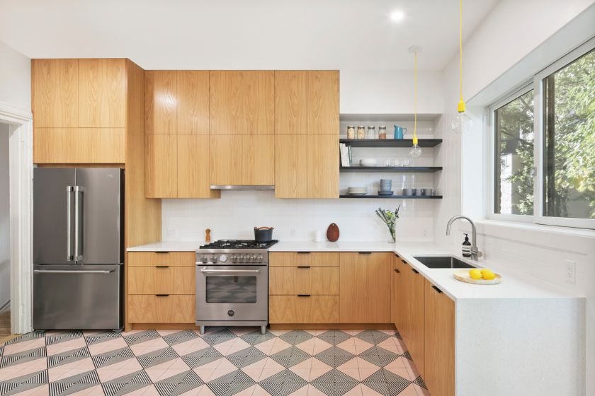 new kitchen 100 Year Old Townhouse Renovation by Studio Officina Architecture