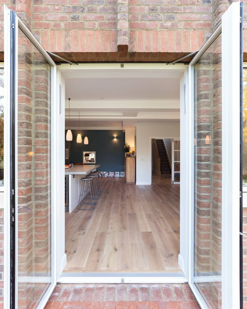 opened doors 819x1024 A Renovation of a Detached House in a Cambridge Conservation Area