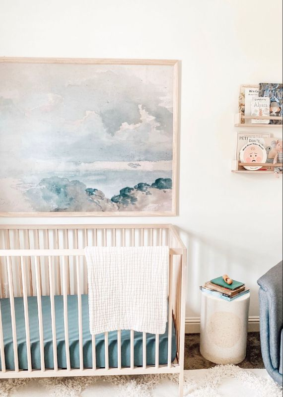 blue nursery room decoration 4 Calming Wall Art Ideas to Make Your Home Feel More Relaxing