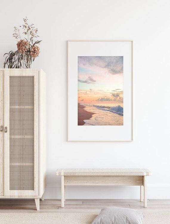 calming pastel beach wall art 4 Calming Wall Art Ideas to Make Your Home Feel More Relaxing