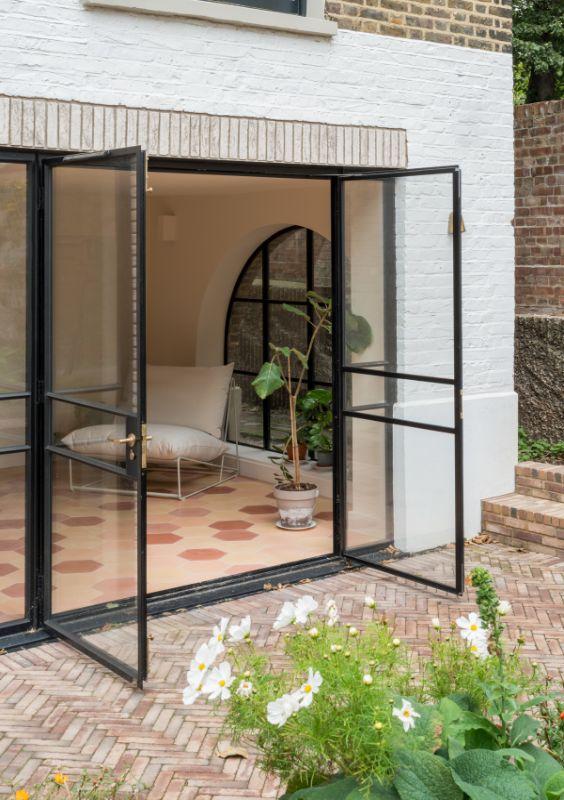 crittal style doors Field House by Bradley Van Der Straeten Architects