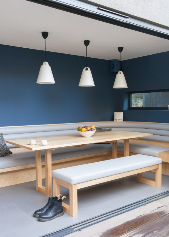 dining area from the garden Alloway Road Transformation by George & James Architects