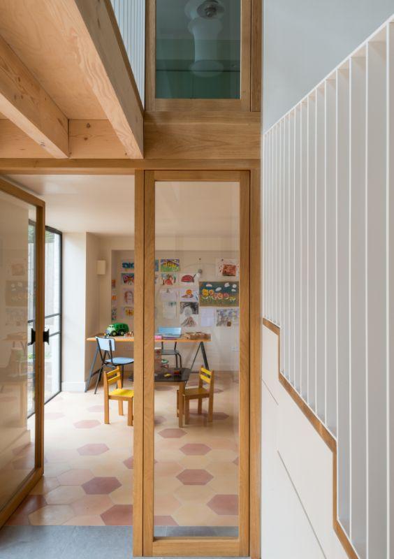 double height glazing Field House by Bradley Van Der Straeten Architects