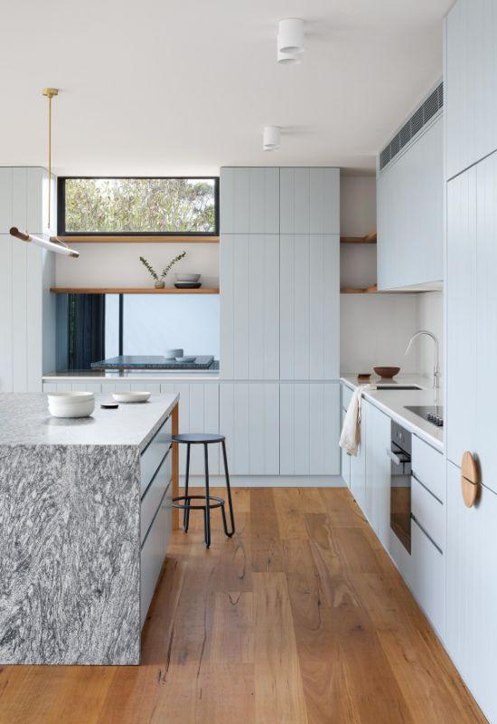 kitchen island The Beach House by Corke Design Studio