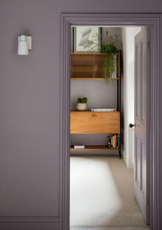 purple walls Field House by Bradley Van Der Straeten Architects