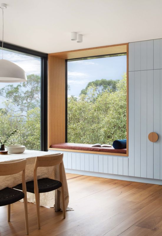 reading nook The Beach House by Corke Design Studio