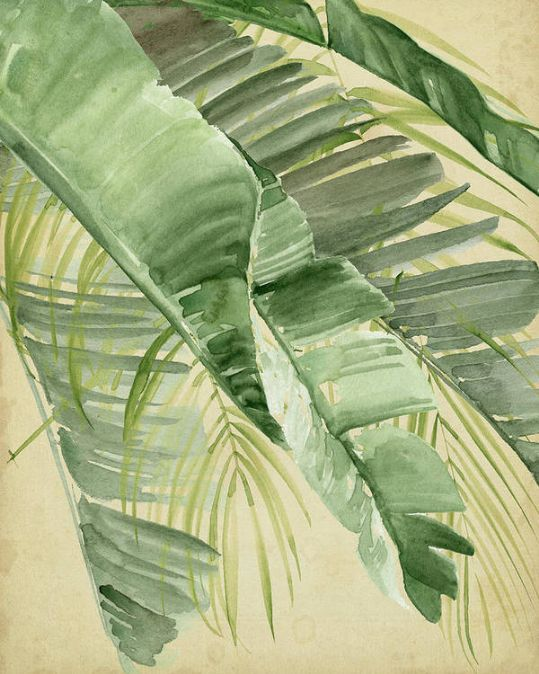 banana palms wall art 10 Bedroom Wall Art Pieces That Will Brighten Your Mornings