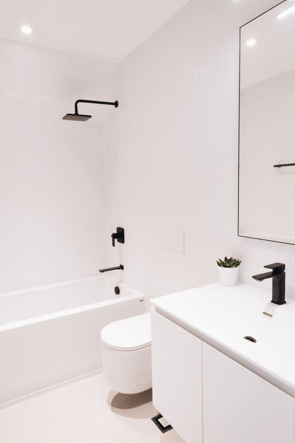 bathroom 1 95 Mackay Laneway House by Gabriel Fain Architects