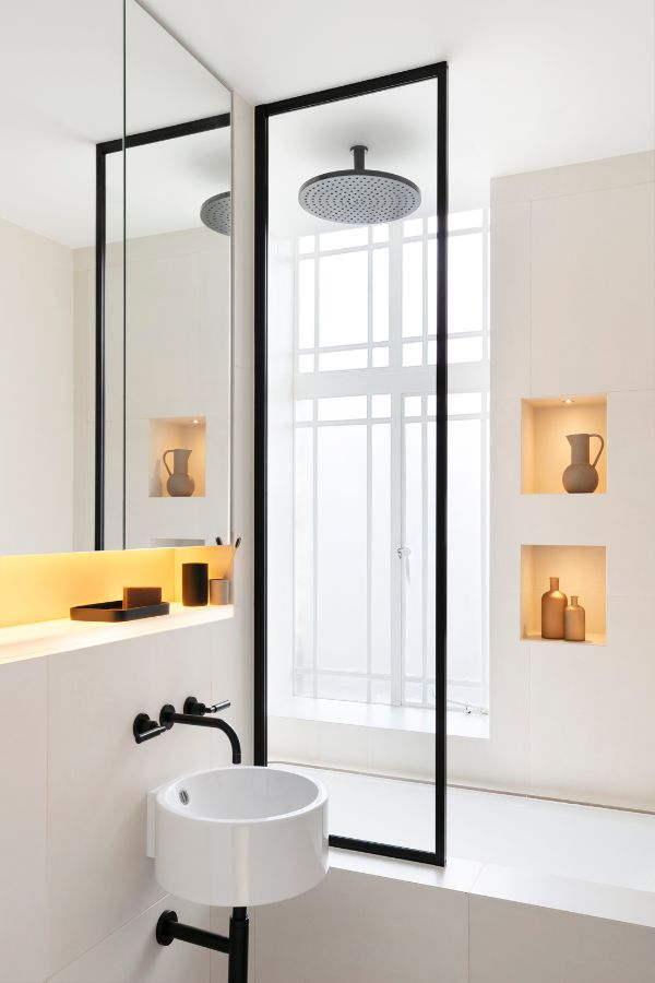 bathroom An 80sqm Apartment Renovation by Brosh Architects
