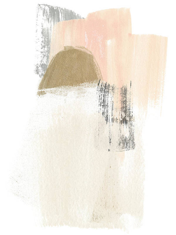 blush abstract bedroom wall art print 10 Bedroom Wall Art Pieces That Will Brighten Your Mornings
