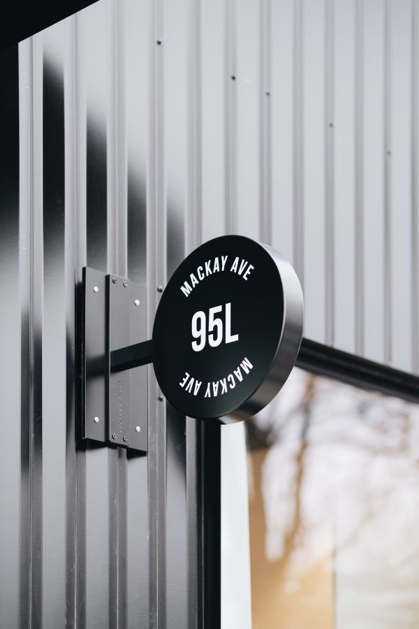 exterior sign 95 Mackay Laneway House by Gabriel Fain Architects