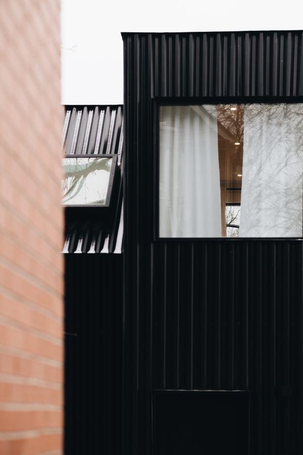 facade 95 Mackay Laneway House by Gabriel Fain Architects
