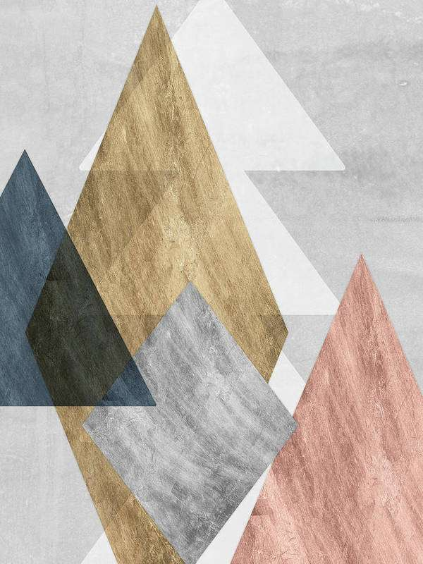geometric peaks bedroom wall art print 10 Bedroom Wall Art Pieces That Will Brighten Your Mornings