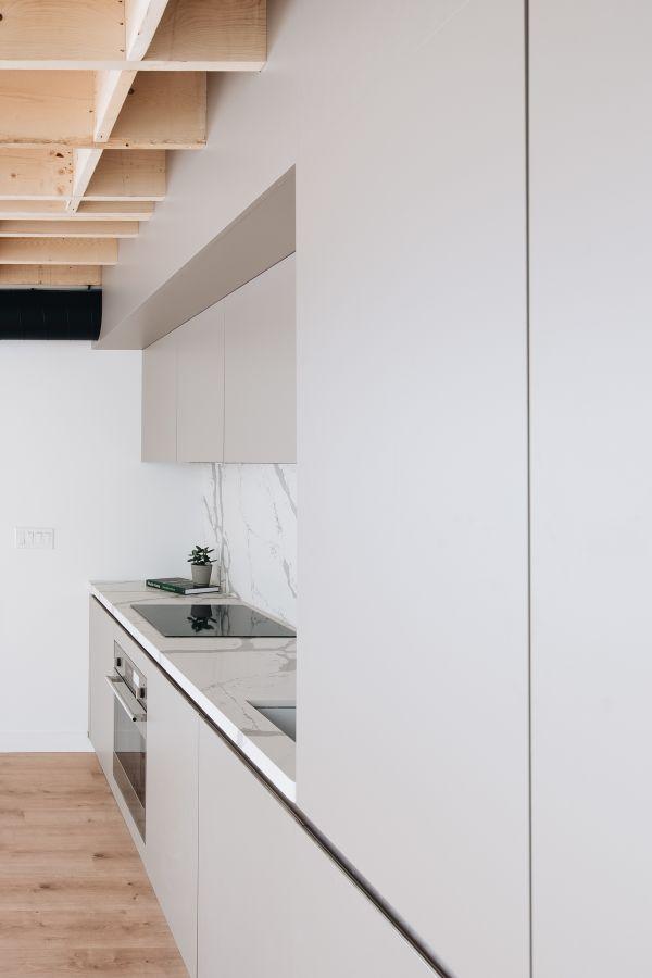 kitchen detail 95 Mackay Laneway House by Gabriel Fain Architects
