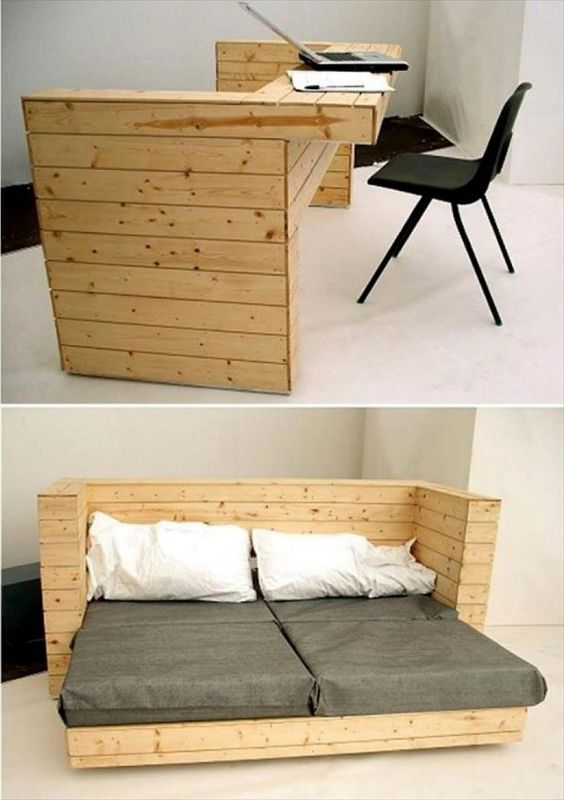 small home design ideas convertible bed desk 8 Small Home Design Ideas That Will Make Your Space Look Bigger