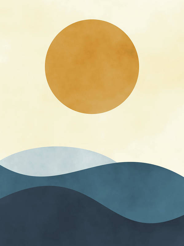 waves and sun 10 Bedroom Wall Art Pieces That Will Brighten Your Mornings