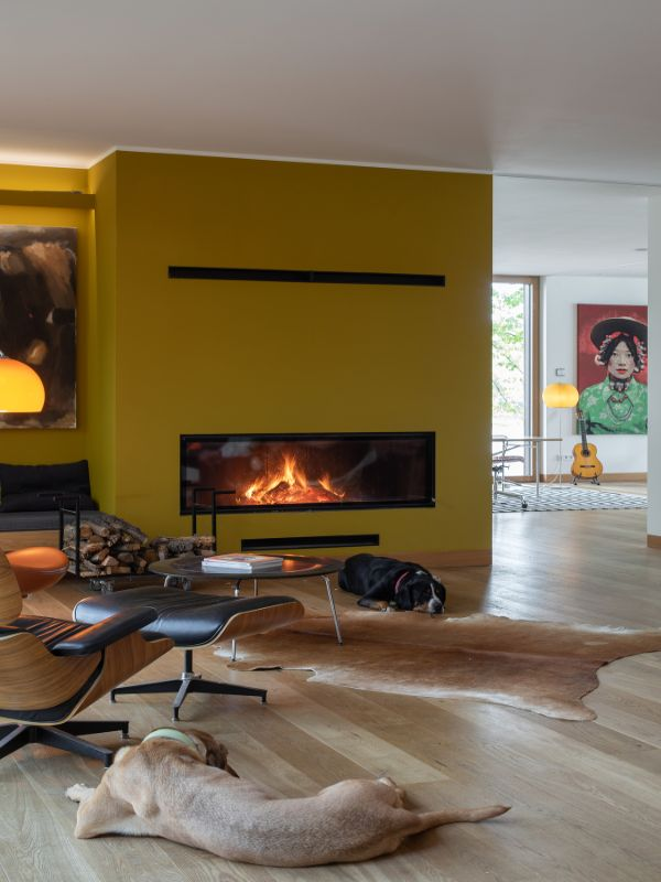 fireplace Haus am See by Carlos Zwick
