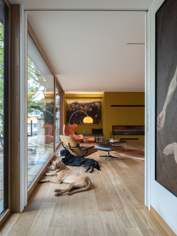 living room Haus am See by Carlos Zwick