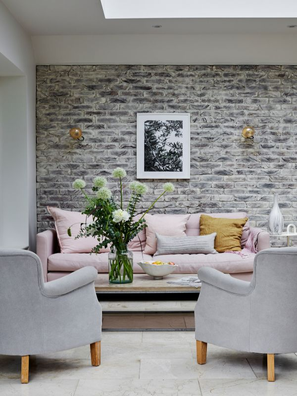 a pair of armchairs and sofa Renovation of a Stunning 1930s Detached Home by Yoko Kloeden Design
