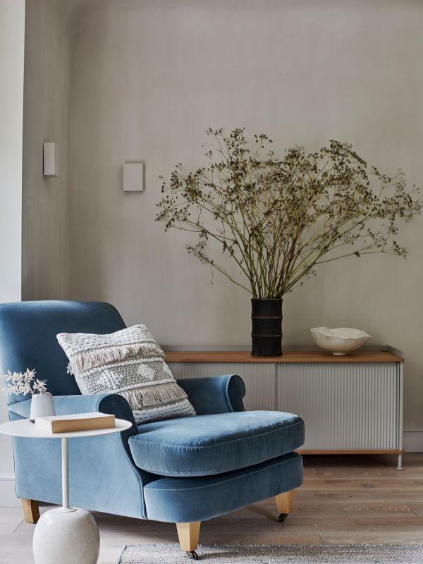 blue armchair Renovation of a Stunning 1930s Detached Home by Yoko Kloeden Design
