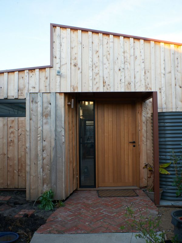 entrance A Backyard Studio by Drawing Room Architecture