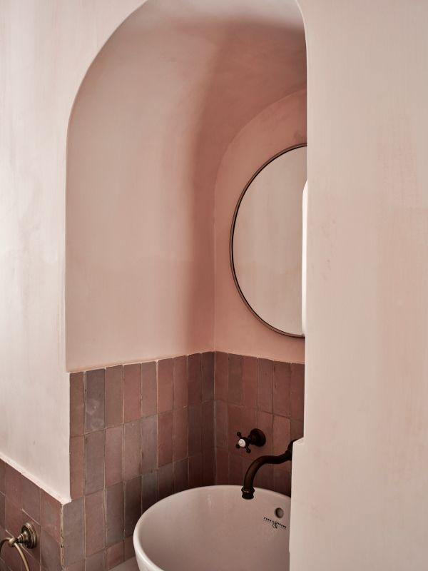 hand glazed moroccan zellige tiles in bathroom Renovation of a Stunning 1930s Detached Home by Yoko Kloeden Design
