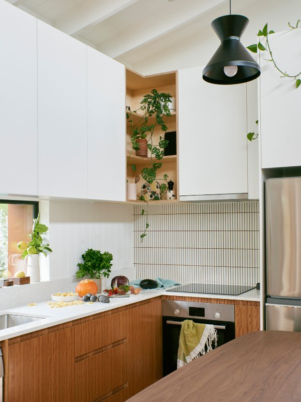 kitchen detail A Backyard Studio by Drawing Room Architecture