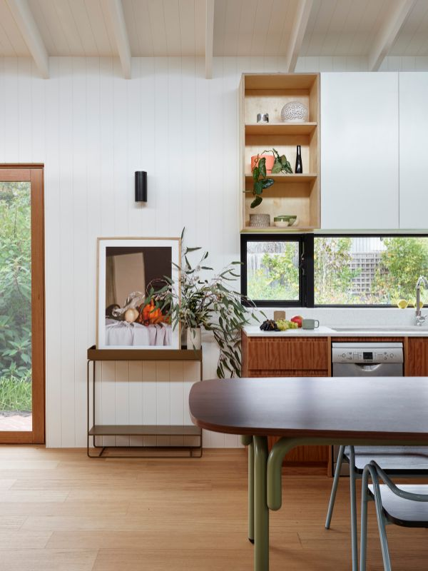 kitchen views to garden A Backyard Studio by Drawing Room Architecture