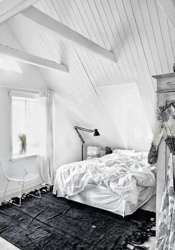scandinavian style attic bedroom 5 Attic Bedroom Ideas To Create A Luxury Sleeping Space