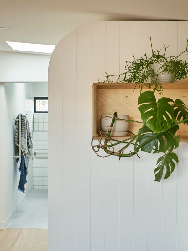 view to the bathroom A Backyard Studio by Drawing Room Architecture