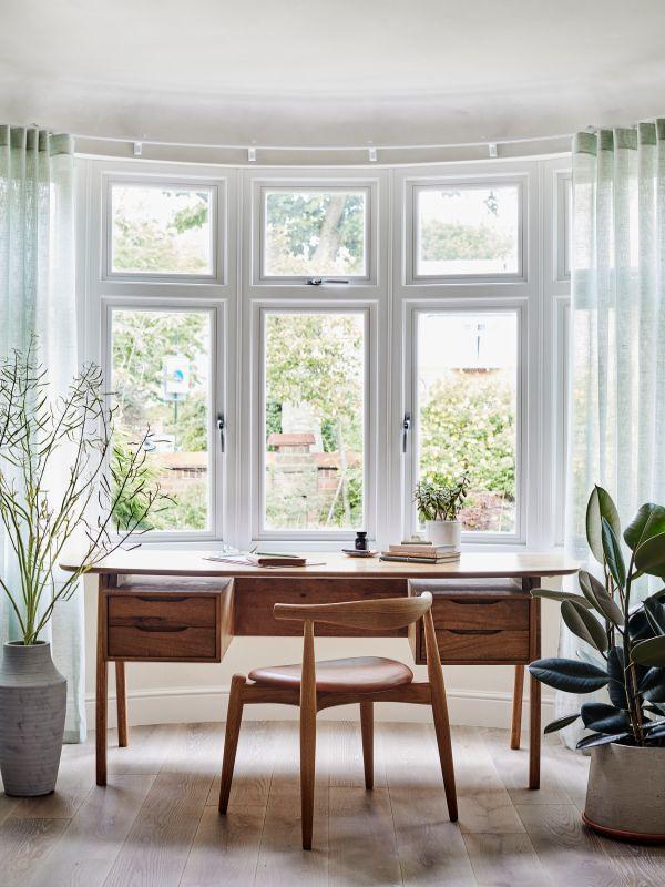 vintage mid century home office desk Renovation of a Stunning 1930s Detached Home by Yoko Kloeden Design