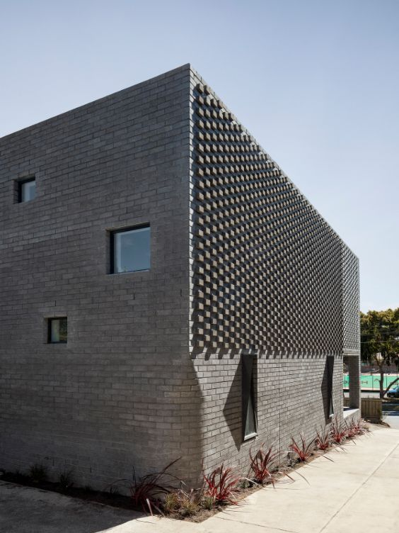 brickwork The Cuboid House by LLDS Architects